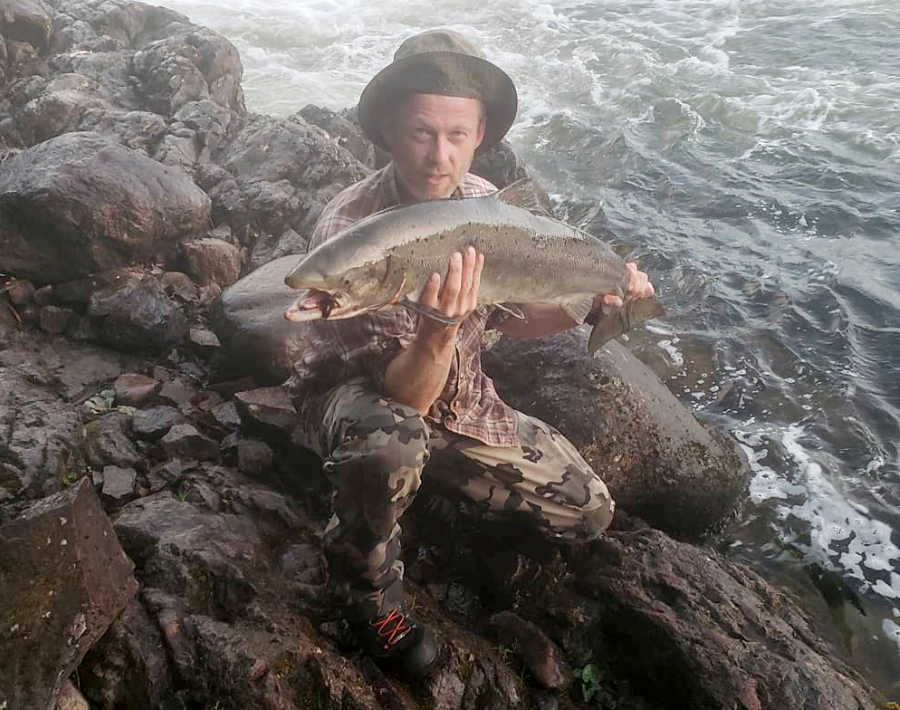 Gjermund Roesholt, shown here in a photo from his Instagram, shot and killed the bear when it charged him, not knowing it had already killed his family.
