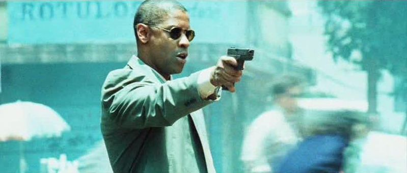 denzel washington aiming gun