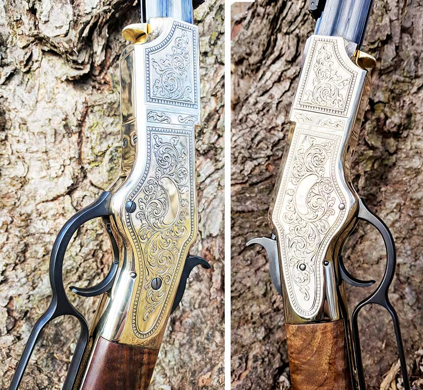 henry deluxe engraved rifle casing