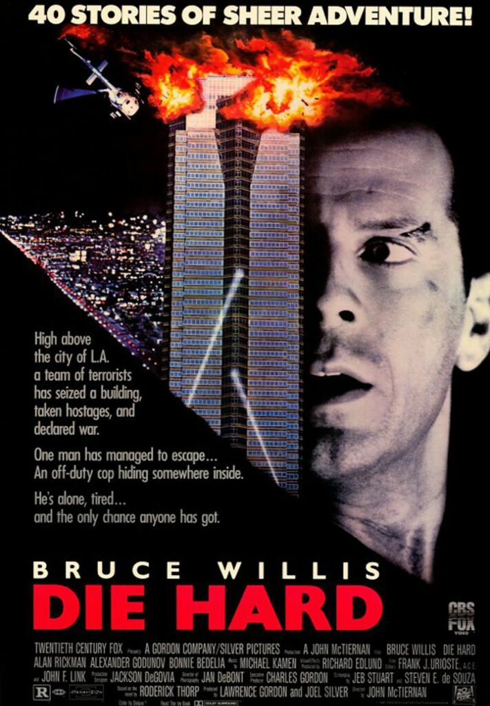 The poster for the original *Die Hard* released in 1988.