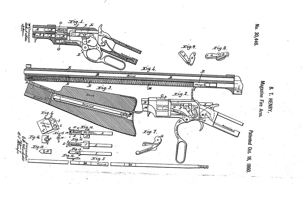 henry deluxe engraved rifle patent