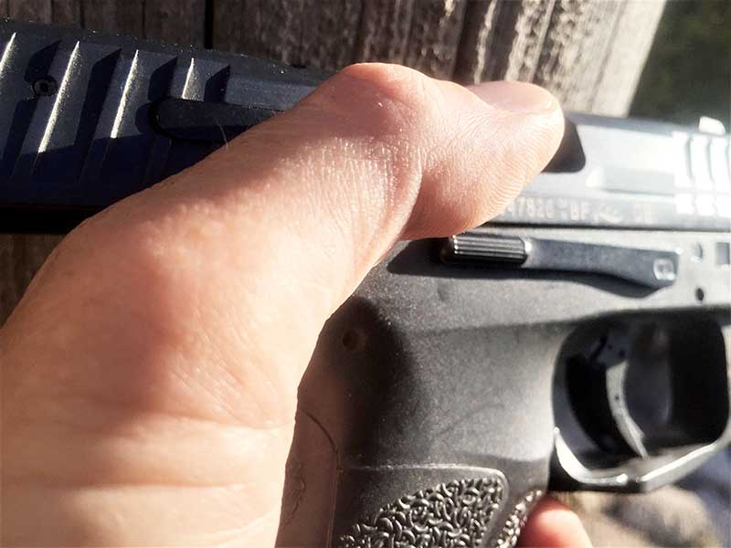 heckler koch vp9 handgun slide lock