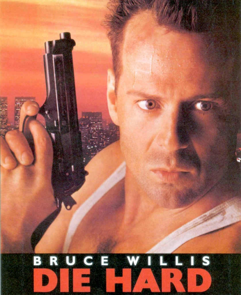 Newer poster art for the original movie, prominently featuring McClane's Beretta.
