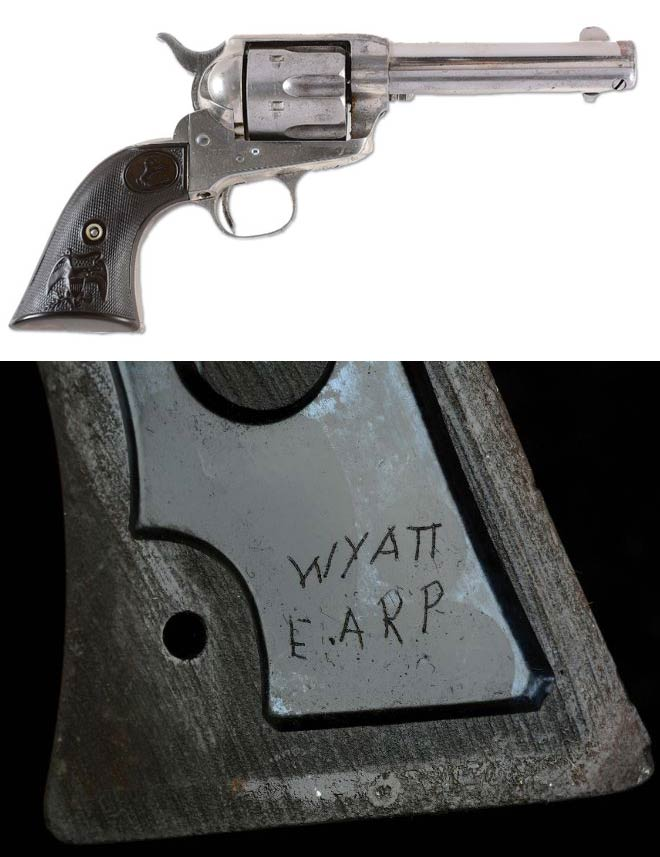 gun engraved with wyatt earp's name