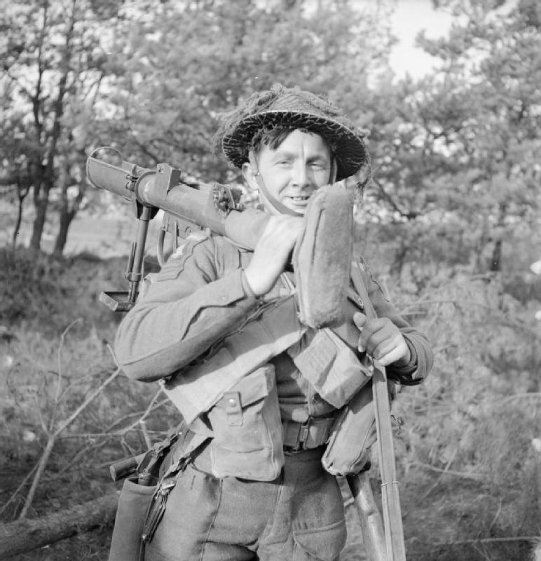 soldier holding piat
