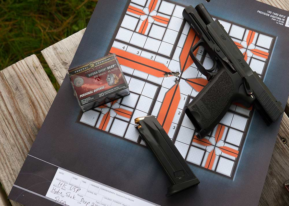 heckler koch usp shot group