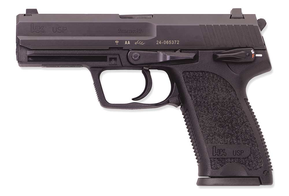 the left side of a heckler and koch usp