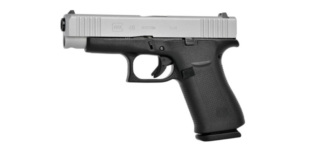 The new Glock G48 pistol is the same as the G43X, but with a longer, compact-size length.