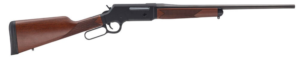 """The Long Ranger 6.5 Creedmoor lever action rifle utilizes a 22"""" blued steel free-floated sporter barrel to take full advantage of the cartridge's high performance."""