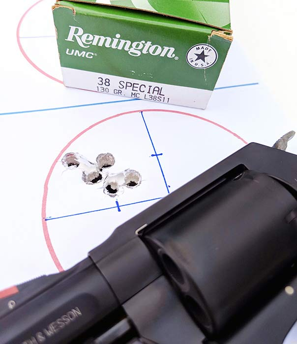 remington 38 special ammo smith and wesson shot group