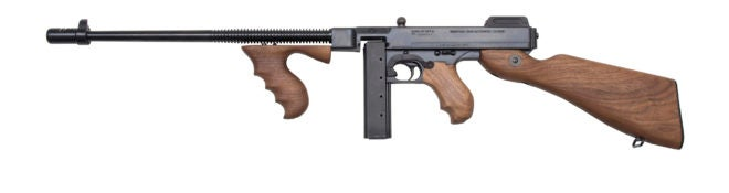 The new Thompson Model T5-9L20 carbine from Thompson Auto-Ordnance chambered in 9x19mm Parabellum.