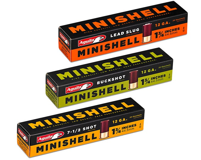 Aguila MiniShells are available in 12 gauge loaded with #7-1/2, #8 , and #9 shot.