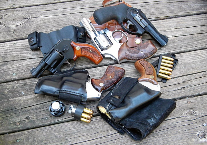 There is a variety of ways to carry a revolver, and there are a bunch of ways to carry spare ammunition.
