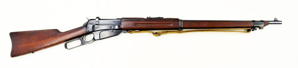 The Model 1895 was the last lever gun designed by John M. Browning and the first one from Winchester to use a box magazine instead of a tubular magazine.