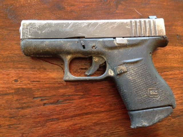 This Glock 43 was submerged, frozen, dragged, and then put on the firing line to shoot 150 rounds.