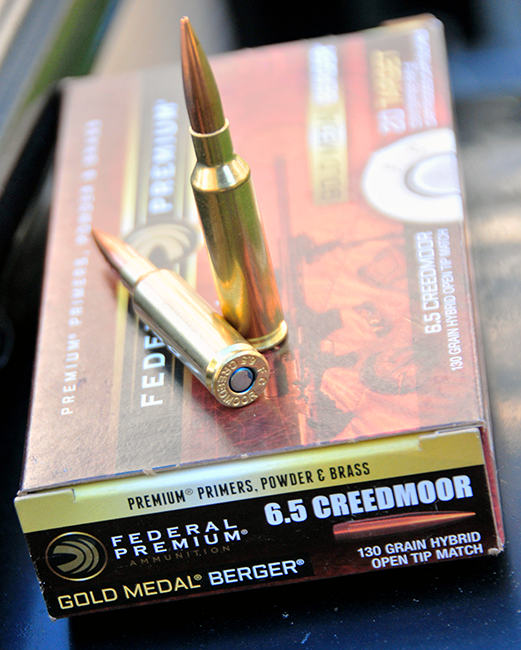 The author used 6.5 Creedmoor rounds from Federal Premium in a an MSR10 rifle from Savage.