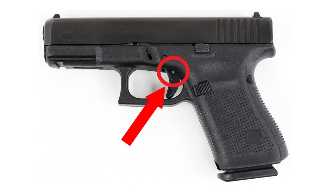 This is the pin that West Carrllton Police say worked loose and cause an accidental discharge that injured an officer.