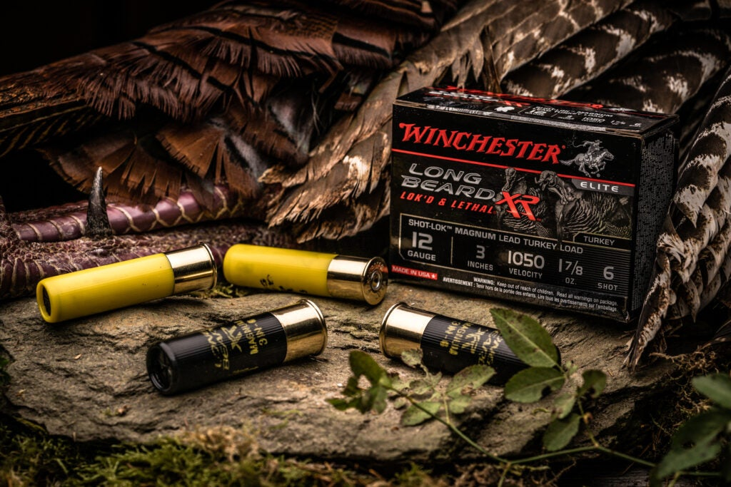Winchester's Long Beard XR turkey rounds use the patented Shot-Lok resin to hold the shot charge together until firing, at which point it transforms into a pattern-protecting form of buffering.