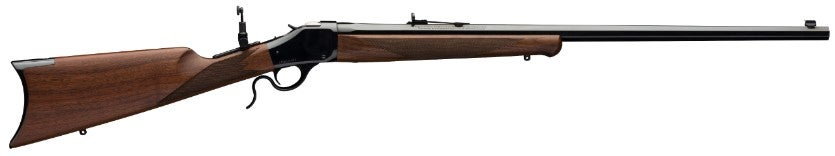 The 1885 Winchester rifle was the first gun of Browning's design to be produced.