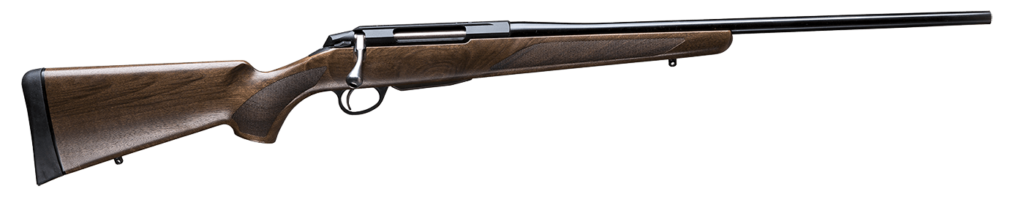 The Tikka T3x Hunter is chambered in the classic .308 Winchester.