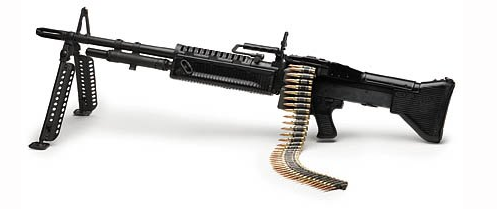 The M60 machine gun was chambered for belted rounds of 7.62x51mm NATO.