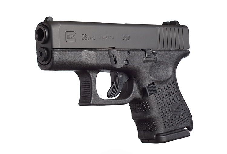 The G26 is the subcompact version of Glock double stack magazine 9mm pistols.
