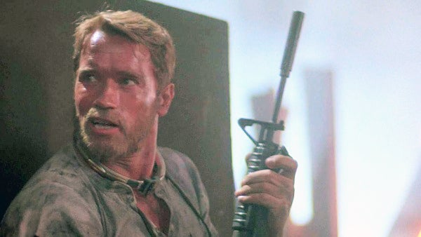 Richards with a Colt Commando during the prison break.