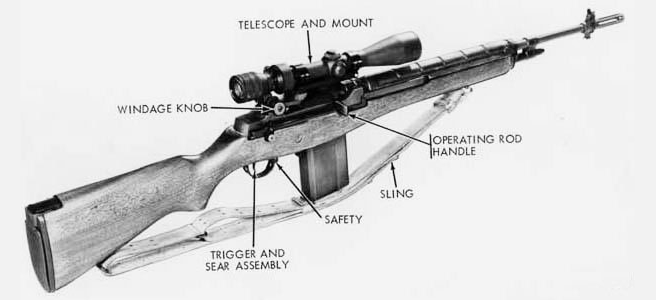 The XM21 used a National Match Barrel for accuracy, original wood stock, and a high magnification scope.