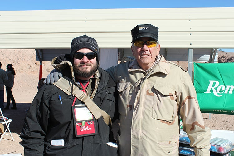 The author with Ermey at SHOT Show 2012 Media Day at the Range.