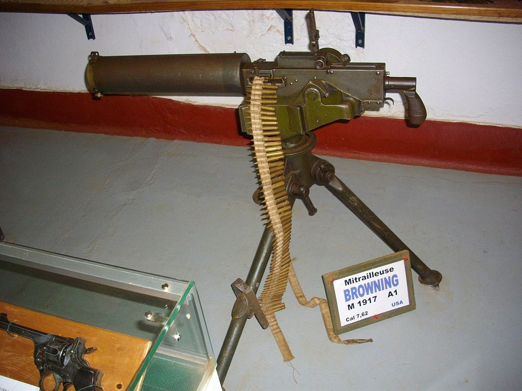 An M1917A1 in the Hackenberg museum, Veckring, Moselle, France.