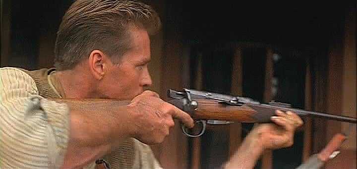 Val Kilmer as Lt. Col. John Henry Patterson in *The Ghost and the Darkness* (1996) with his BSA Lee-Speed Sporter in .303 British.