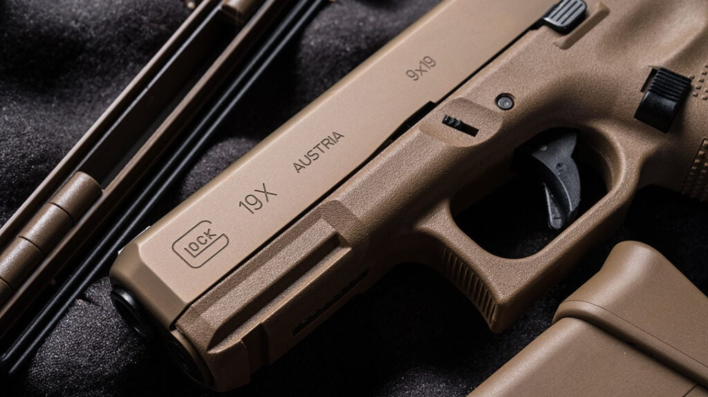 A close-up of the slide on the new G19X.