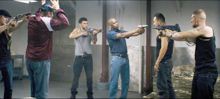 McCall seems to be a bit outgunned in this standoff with Russian gangsters.