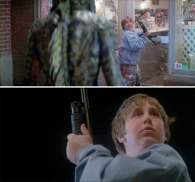 Horace uses a cop's S&W 3000 pump action shotgun to take out the Gillman with a shot to the heart.
