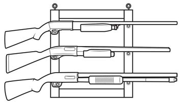 Gun Projects: DIY Gun Rack and Leather Rifle Sling
