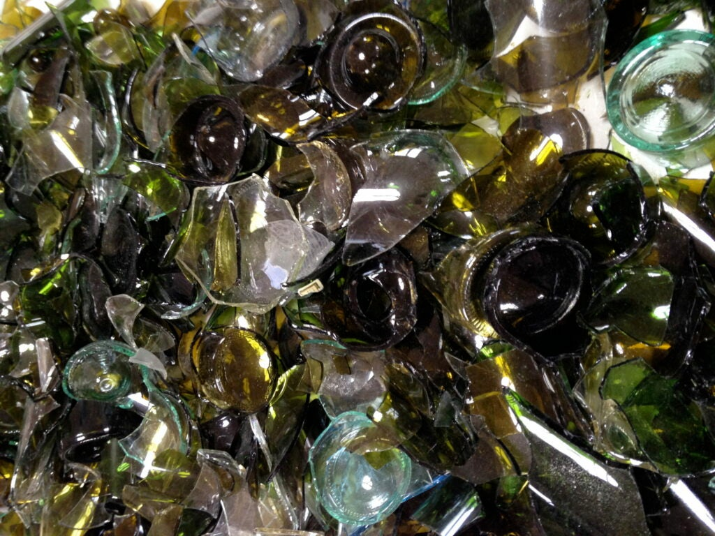 Glass bottles might be fun to shoot, but they're not so fun to clean up.