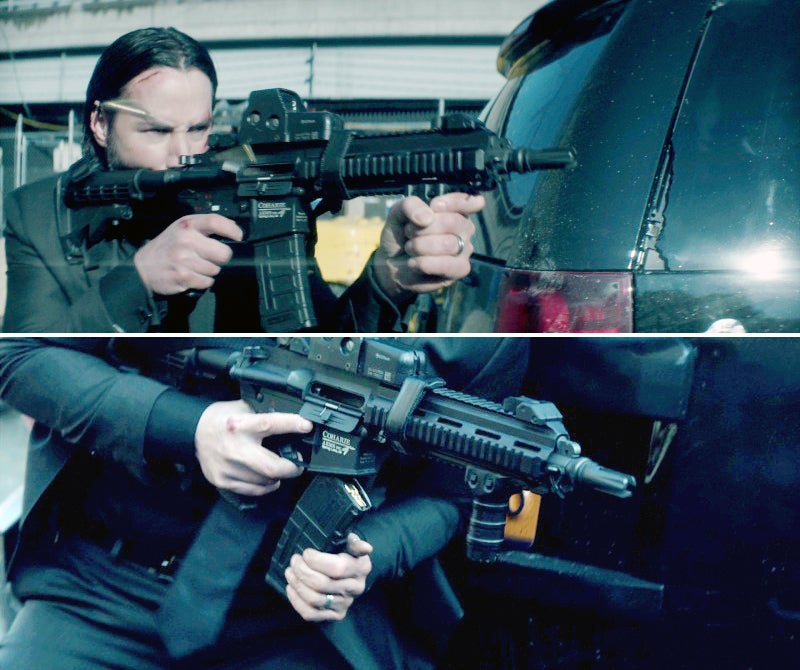 Reeves performs a tactical reload with his Customized Coharie Arms CA-415 in an unbroken shot.