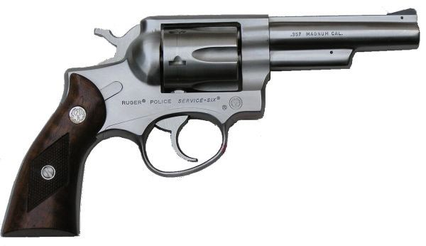 A Ruger Police Service Six in .357 Magnum. NYPD Rugers were chambered in .38 Special.