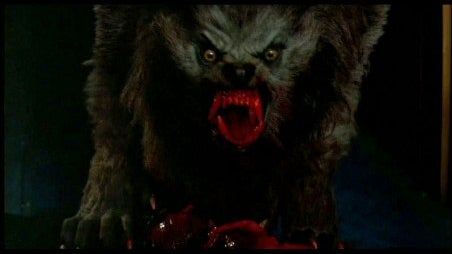 The werewolf, created by Rick Baker, from *An American Werewolf in London* (1981).
