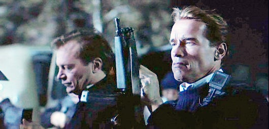 Harry and the other Omega Sector agents use MP5 submachine guns during the assault on Simon's trailer.