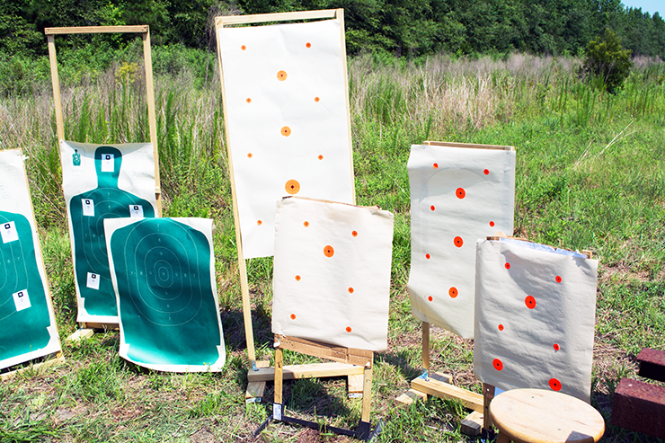 It's always considerate to do as much target setup as possible before the range goes cold so people aren't waiting on your to build your target array.