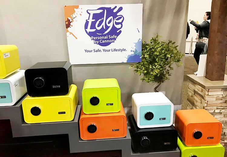 The EDGE line of personal safes comes in a variety of striking retro colors.