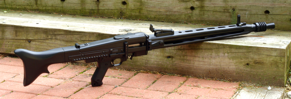 This Ruger 10/22 is converted to look like a German M-42 machine gun.