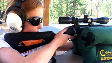 The author and her daughter decided to go with a rifle in .243 Winchester as her first rifle.