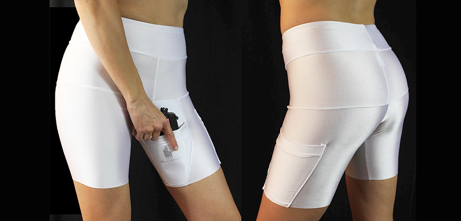 The shorts also come in white.