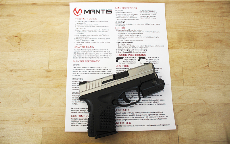 MantisX Firearms Training System: Gear Test