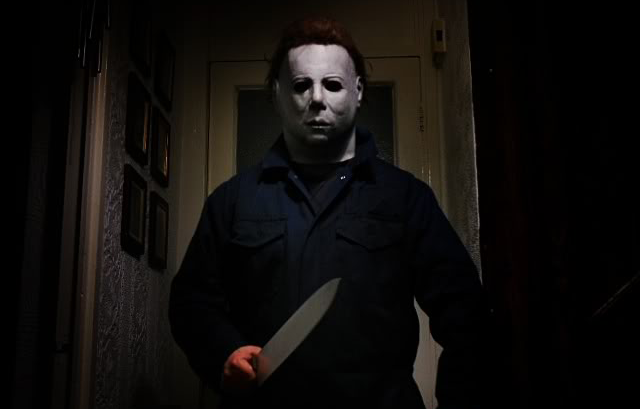 Michael Myers, the masked killer from the *Halloween* movies. A remake is currently in the works.