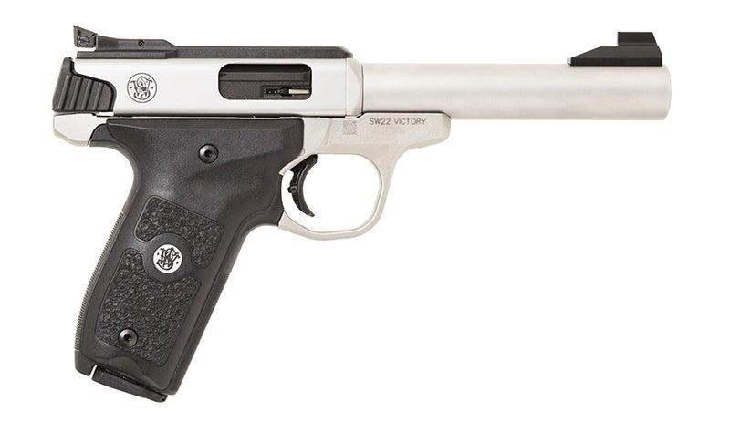 The other side of the SW22 Victory Target Model pistol.