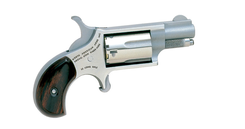 A .22LR Mini-Revolver from North American Arms is light enough to be carried pretty much anywhere.