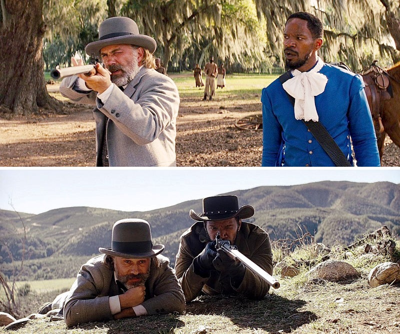 Schultz and Django use a Sharps 1874 Buffalo rifle a good 20 years before it was produced.